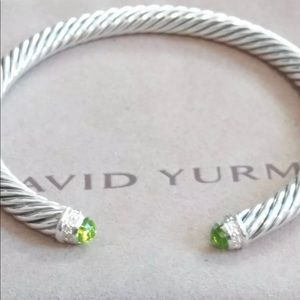 Authentic David Yurman Peridot Cable Bracelet